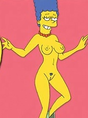Marge Simpson gets spewed in sperm