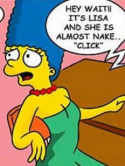 Cute Lisa Simpson gets body covered with warm cumshots